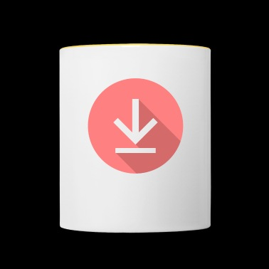 Download icon, download icon - Contrasting Mug