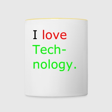 i love technologie - Mok tweekleurig