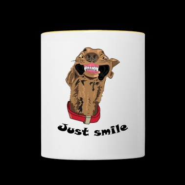 Just smile - Mok tweekleurig