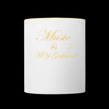 music is my girlfriend - Taza en dos colores