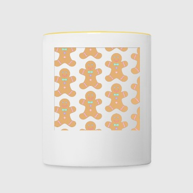 Gingerbread men Christmas - Contrasting Mug