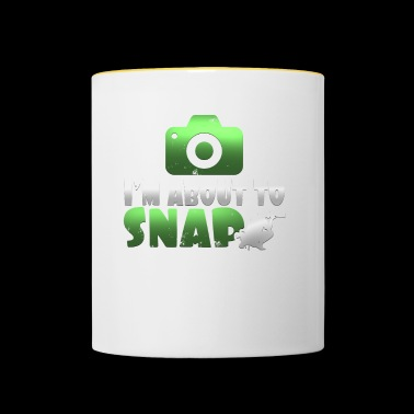 I'm About Snap Funny Photographer T Shirt - Kubek dwukolorowy
