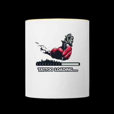 Tattoo Loading.. Hand mit Tattoomaschine - Tasse zweifarbig