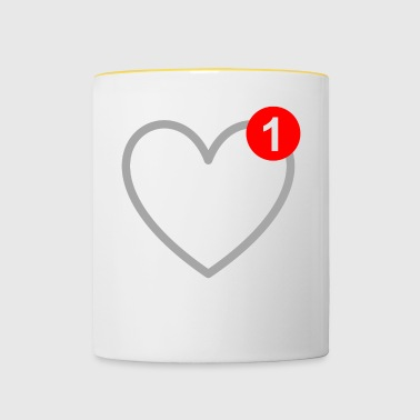 The love - message - SMS - in love - Contrasting Mug