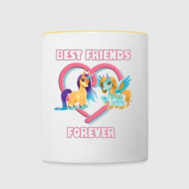 Best friends forever Einhorn Unicorn - Tasse zweifarbig
