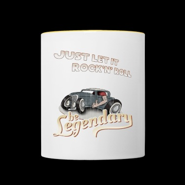 Let it Rock'n'Roll be legendary legendary hotrod - Contrasting Mug