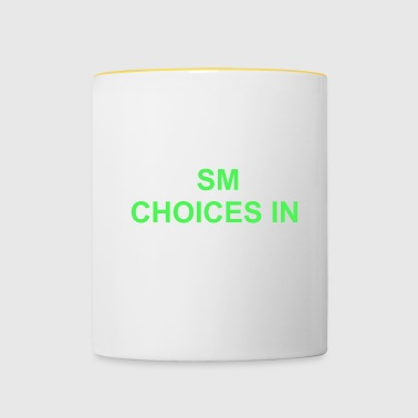 smart choices - Tasse zweifarbig