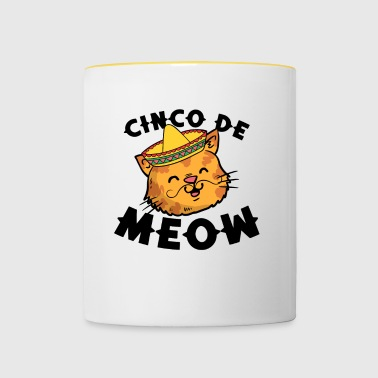 Cinco De Meow Grappige Cinco De Mayo Cat Kitten Pun - Mok tweekleurig