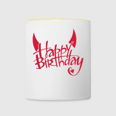 Birthday devil - Contrasting Mug