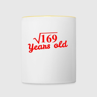 13th birthday: square root 169 years old - red - Contrasting Mug