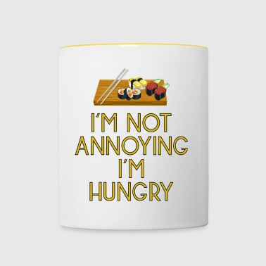hungry lunch noon food fast food pizza89 - Contrasting Mug