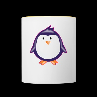 CUTE LITTLE PENGUIN PLAIN - Contrasting Mug