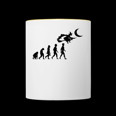 witch witch witch broom witch magic spells2 - Contrasting Mug