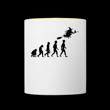 witch witch witch broom witch magic magic4 - Contrasting Mug