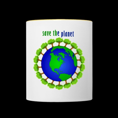 Save the planet - Mok tweekleurig