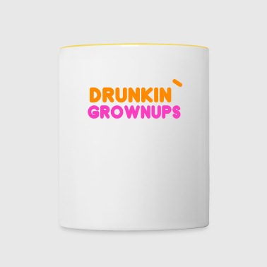 Drunkin 'Grownups - Party Celebrate Funny Gift - Contrasting Mug