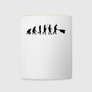 Evolution to the construction worker T-shirt gift - Contrasting Mug