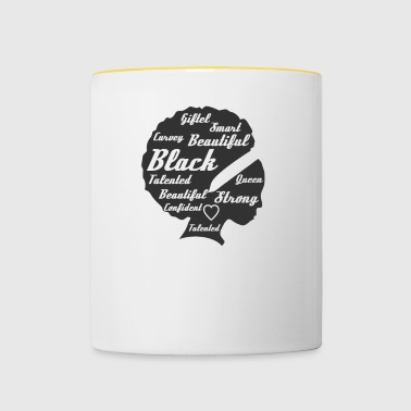 African Month - Proud to be black - black history - Tasse zweifarbig