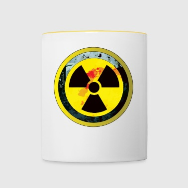 Attention, une conception radioactive - Tasse bicolore