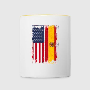 USA Spain Friendship american vintage - Contrasting Mug