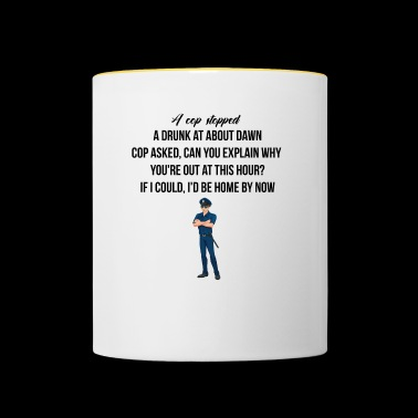 A cop stopped - Contrasting Mug