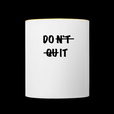 Do it - Tasse zweifarbig