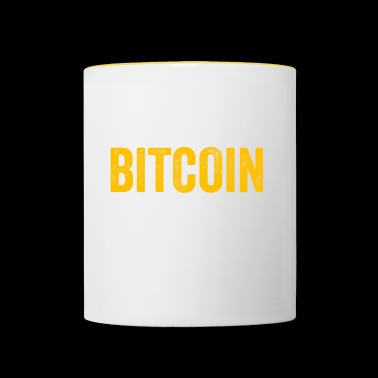 Bitcoin The Honey Badger Of Money - Cryptocurrency - Contrasting Mug