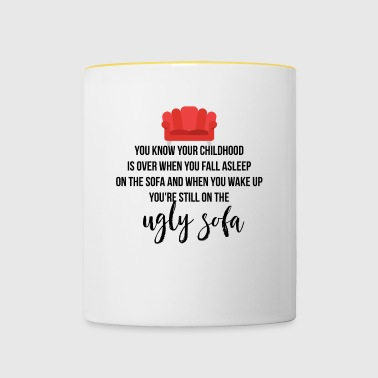 Your childhood is over - Contrasting Mug