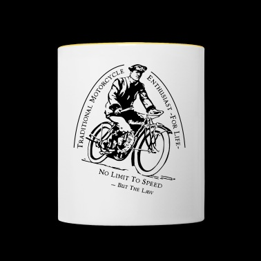 Traditional Motorcycle Enthusiast -For Life - Contrasting Mug