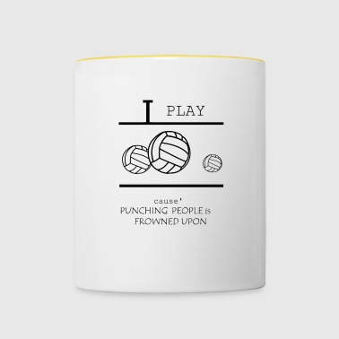Volley-ball, beach-volley, les filles de volley-ball - Mug contrasté