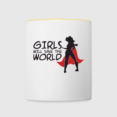 Powerfrau power - Tasse zweifarbig
