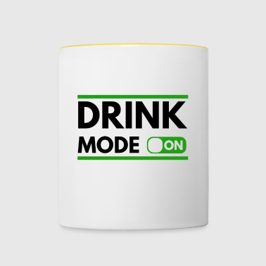 Drink to St Patrick's Day - Contrasting Mug