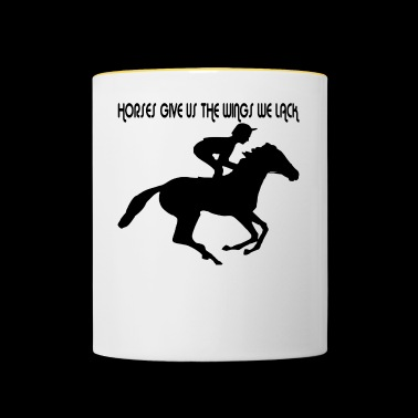 Dressage riding with horse - Contrasting Mug