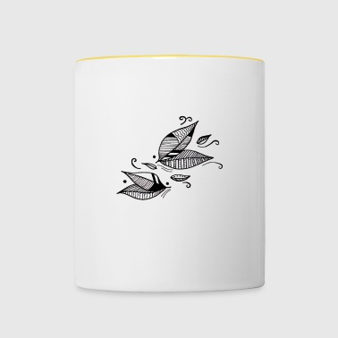 Leaves in the wind - Contrasting Mug