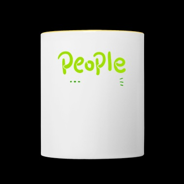 INTROVERTS People Not A Big Fan - Not A Fan - Contrasting Mug