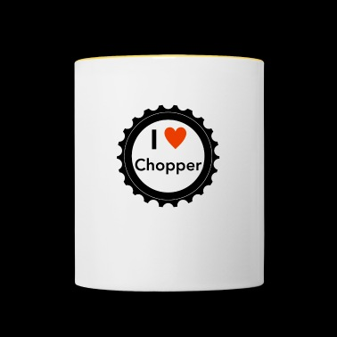 I Love Chopper - Tofarvet krus