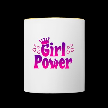 Girl Power - Girl Power - Kubek dwukolorowy
