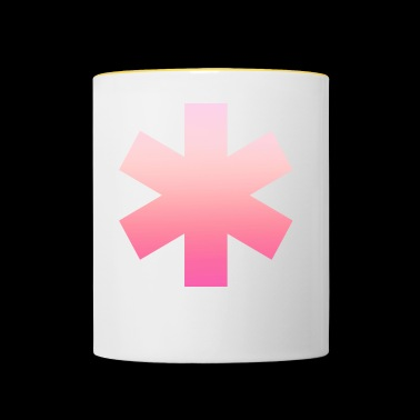 Rose Simple Simple Simple 6-Cross Design - Mug contrasté