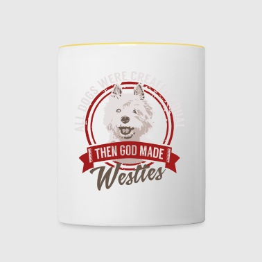 All Dogs Equal Westies T-shirt - Contrasting Mug