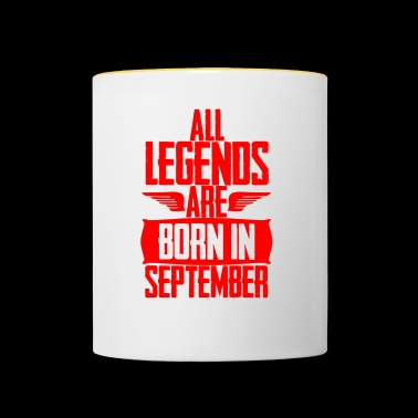 Gift Legends September Birthday Birthday - Tvåfärgad mugg