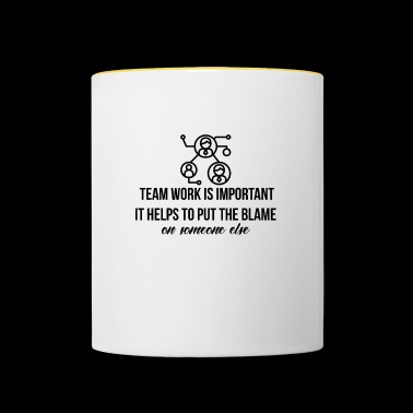 Team work is important - Contrasting Mug