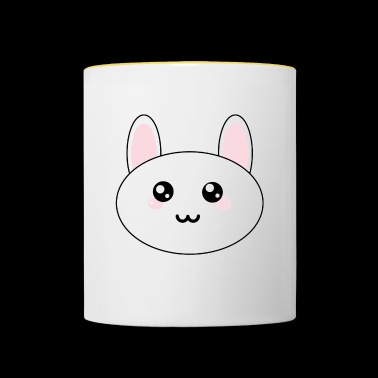Kawaii Rabbit - Contrasting Mug
