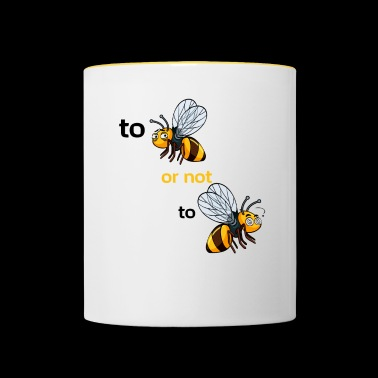 bee or not to bee - Contrasting Mug
