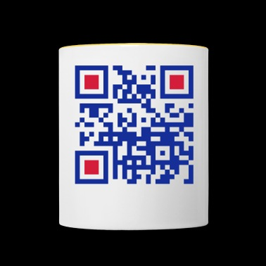 QR Hello World - Kubek dwukolorowy