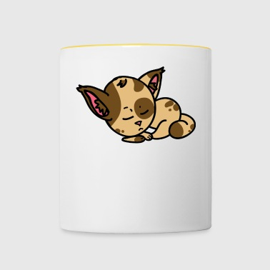 Sleepy Cat - Contrasting Mug