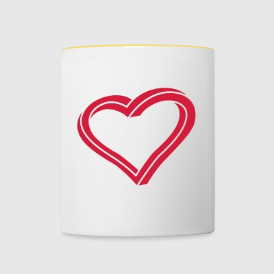 Twisted Heart - Contrasting Mug