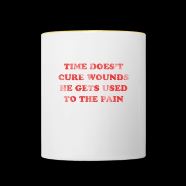 Time does not heal wounds - Contrasting Mug