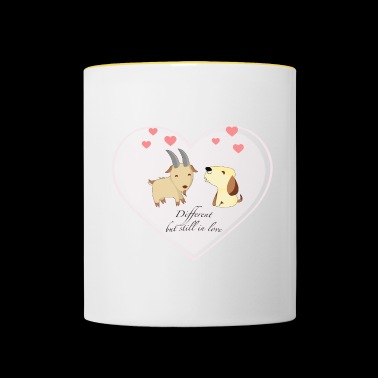 Different, but still in love - Tasse zweifarbig