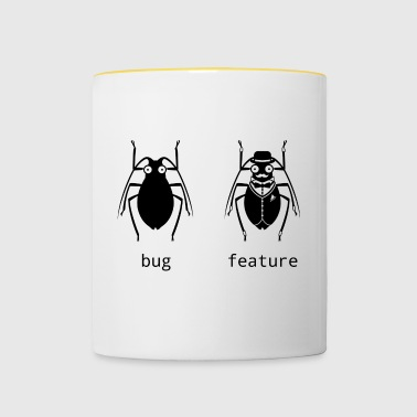 Bug or feature - Contrasting Mug
