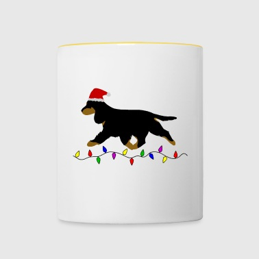 Cocker Spaniel (Black and Tan) Christmas - Contrasting Mug